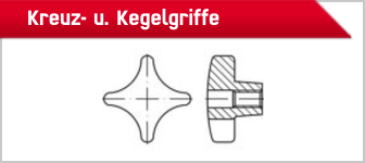 TOOLCRAFT Kreuz- u. Kegelgriffe