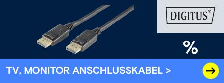 Digitus TV-, Monitor-Anschlusskabel reduziert
